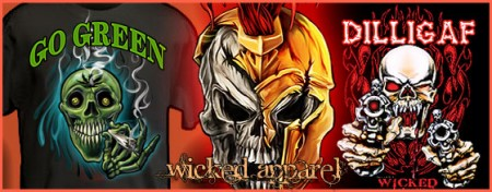 Wicked Apparel by Wicked Skulls – Extreme Designs For Clothing Clothing With Attitude