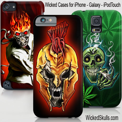 Wicked Skull Cases for iPhone – iPod – Galaxy