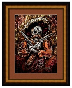 Day of the Dead Skeleton Gunfighter Print
