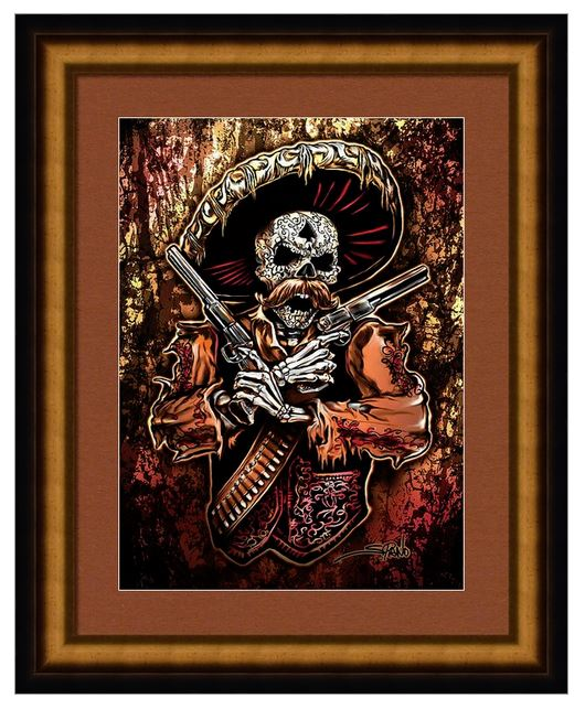 skull art by wicked skulls