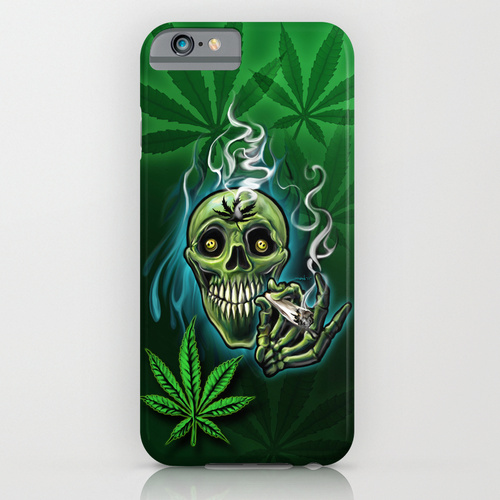 Happy Pot Head Skull iPhone 6 Case