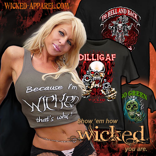 Wicked Apparel - Extreme Designs For Clothing You Can Personalize