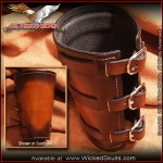Wicked Skulls Deluxe Leather Gauntlet